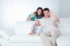 Pozytywna rodzina Obrazy Royalty Free