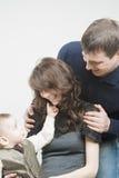 Pozytywna Szczęśliwa rodzina Zdjęcia Royalty Free