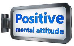 Pozytywna umysłowa postawa na billboardzie ilustracji