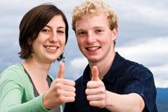 pozytywni nastolatkowie Zdjęcie Stock
