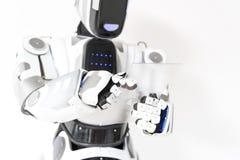 Pozytywny android pracuje z koncentracją Obraz Stock