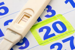 pozytywny ciążowy test zdjęcia royalty free