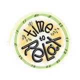 Pozytywny logo literowanie w okręgu Czas motywacyjny zwrot Patroszona chrzcielnica również zwrócić corel ilustracji wektora royalty ilustracja