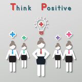 Pozytywny myślący praca zespołowa biznesu pojęcie Obrazy Royalty Free