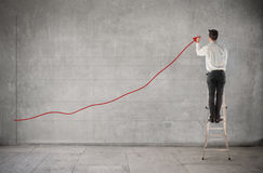 pozytywny trend Obraz Stock