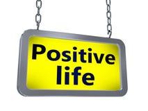 Pozytywny życie na billboardzie ilustracji