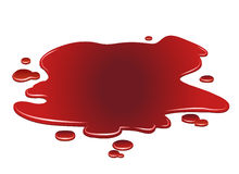 Pozza di sangue Fotografia Stock