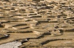 Pozze calcificate dell'acqua minerale fotografia stock