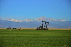Pozzi di petrolio Fotografia Stock