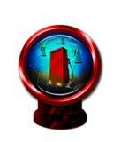 Pozzi di petrolio e globo del mondo royalty illustrazione gratis