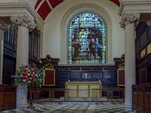 POZZI DI TUNBRIDGE, KENT/UK - 5 GENNAIO: Interno della parrocchia Ch Immagine Stock Libera da Diritti