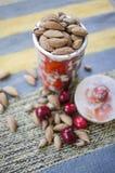Pozzi e ciliegia dell'albicocca Fotografia Stock Libera da Diritti