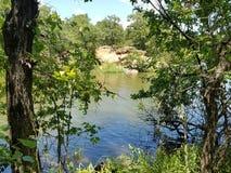 Pozzi minerali del lago che pescano foro Fotografia Stock Libera da Diritti