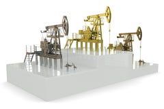 Pozzi - vincitori di più grande produzione di petrolio illustrazione vettoriale