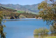 The Pozzillo lake in Regalbuto. Sicily Royalty Free Stock Photo