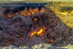 Pozzo 06 del cratere del gas di Darvaza fotografia stock