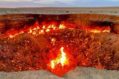 Pozzo 08 del cratere del gas di Darvaza immagine stock libera da diritti