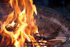Pozzo del fuoco Fotografie Stock