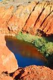 Pozzo della caverna della bauxite fotografia stock