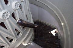 Pozzo delle scale Bermude del faro di St David fotografia stock libera da diritti