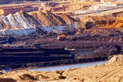 Pozzo di estrazione mineraria Open Fotografie Stock