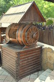 Pozzo di legno immagine stock