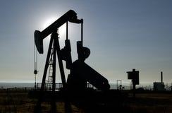 Pozzo di petrolio Fotografie Stock Libere da Diritti