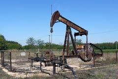 Pozzo di petrolio abbandonato Immagini Stock