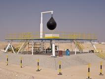 Pozzo di petrolio di Fahud due - Oman Fotografia Stock Libera da Diritti
