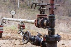 Pozzo petrolifero Immagini Stock Libere da Diritti