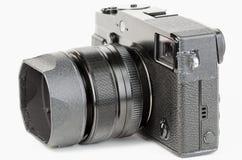 Pozzo usato, retro stile, macchina fotografica del viewfinder Immagini Stock Libere da Diritti