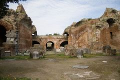 Pozzuoli-Amphitheater Flavio. Italy-Pozzuoli-The Amphitheater Flavio in Pozzuoli royalty free stock images