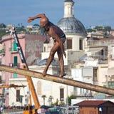 Pozzuoli - Italia 15 de agosto de 2015: Pennone una yegua - dell'A de Madonna Fotos de archivo libres de regalías
