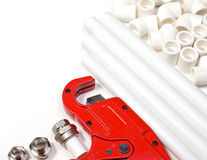 PP pipes supplies Royalty Free Stock Photo