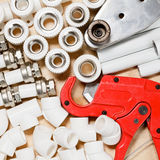 PP pipes supplies Royalty Free Stock Images