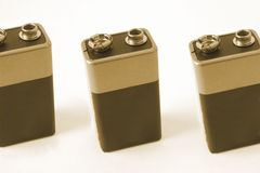 Pp3 batteries Royalty Free Stock Photo