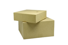 Ppaper箱子或在白色背景隔绝的纸板箱 免版税图库摄影