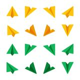 Ppaper plane icon set. Paper plane,paper rocket icon set,flat icon style,vector and illustration vector illustration