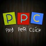 PPC薪水每点击 库存图片