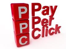 Ppc-lön per klick royaltyfri illustrationer
