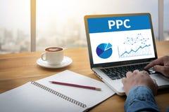 PPC - Lön per klickbegrepp royaltyfri fotografi