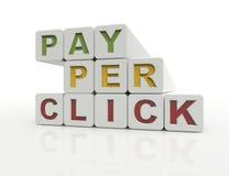 PPC, pagamento pelo clique Imagens de Stock Royalty Free