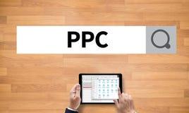 PPC - Pagamento pelo conceito do clique imagens de stock royalty free