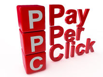PPC Pay per Click Stock Image