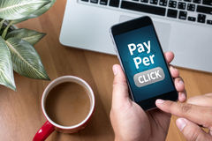 PPC - Pay Per Click concept royalty free stock images