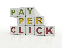 PPC,pay per click. 3d concept Royalty Free Stock Images