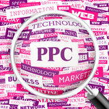 PPC. Word cloud illustration. Tag cloud concept collage Royalty Free Stock Photography