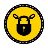 PPE? 保留在白色背景,传染媒介例证的锁着的标志标志孤立 向量例证