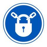 PPE? 保留在白色背景,传染媒介例证EPS的锁着的标志标志孤立 10 皇族释放例证