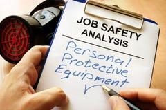 PPE del equipo protector personal imagen de archivo libre de regalías